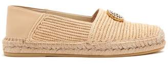 Gucci Pilar Raffia Collapsible Back Espadrilles - Womens - Cream