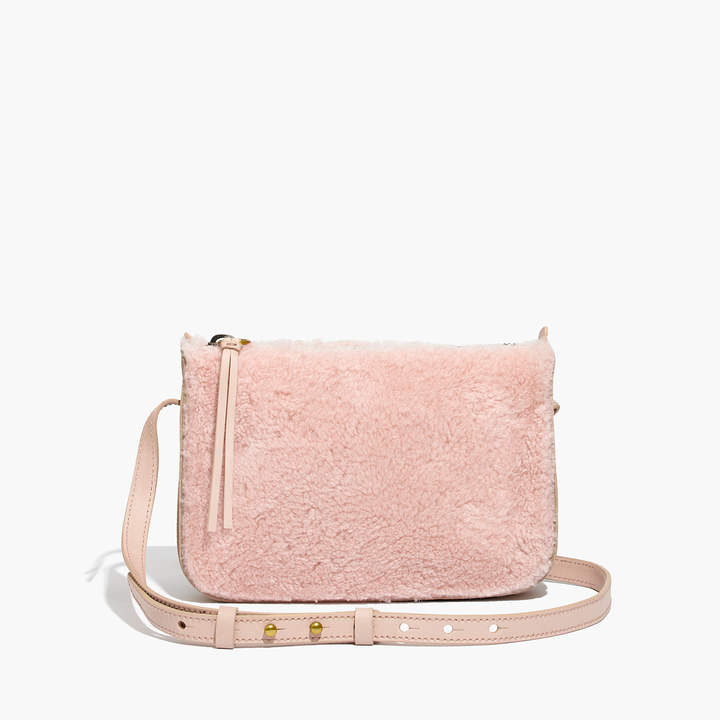 The Simple Crossbody Bag in Shearling