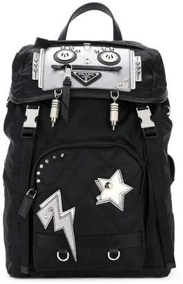 Prada robot nylon backpack