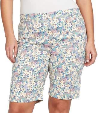 Gloria Vanderbilt Plus Size Amanda Embellished Bermuda Shorts