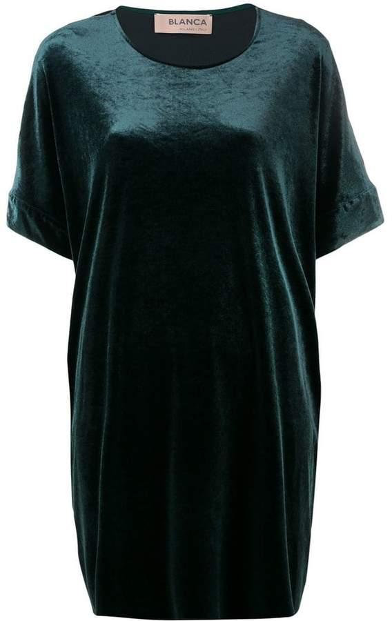 Blanca velvet T-shirt dress