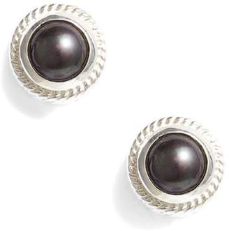 Anna Beck Genuine Blue Pearl Stud Earrings