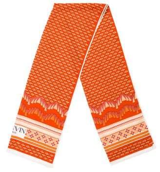 Lanvin Silk Printed Scarf