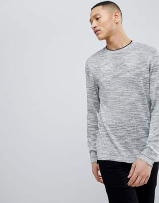 Ted Baker Linen Blend Knit Sweater In Gray