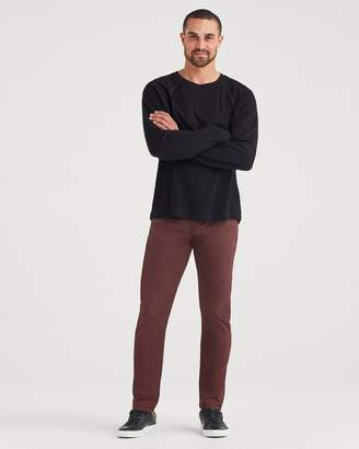 7 For All Mankind Total Twill Adrien Slim Tapered with Clean Pocket in Blackened Burgundy