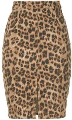 Miaou leopard print pencil skirt