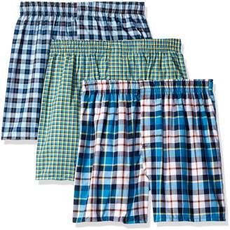 Hanes Men's 3-Pack Hanging Boxer Waterfall Package