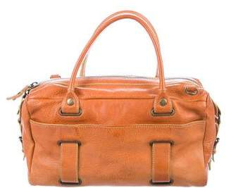 Theory Buckle-Accented Leather Satchel