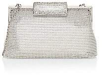 Whiting & Davis Women's Crystal Clasp Mesh Pouch