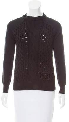 L'Agence Long Sleeve Crew Neck Sweater