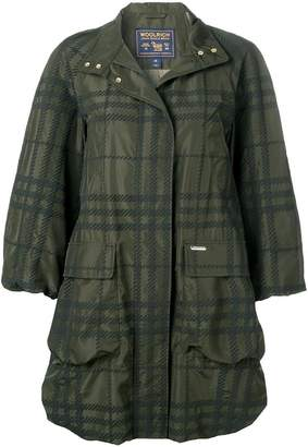 Woolrich plaid water-resistant coat
