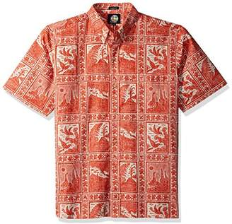 Reyn Spooner Men's Volcano Park Kloth Classic Fit Hawaiian Shirt