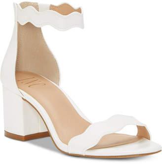 INC International Concepts I.n.c. Women Hadwin Scallop Two-Piece Sandals, Women Shoes