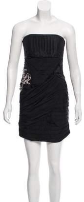 Alice + Olivia Silk Strapless Dress