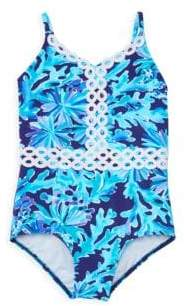 Lilly Pulitzer Little Girl's& Girl's Floral Swimsuit