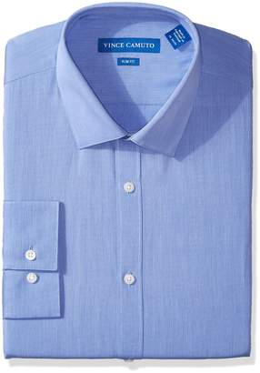 Vince Camuto Men's Slim Fit Pincord Dress Shirt, Strong Blue