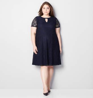 Avenue Stretch Lace Keyhole A-Line Dress