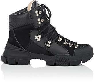 Gucci Women's Mixed-Material Hiker Boots