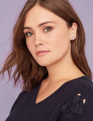 At Lane Bryant Pave Acetate Faux Pearl Stud Earrings 3 Pack