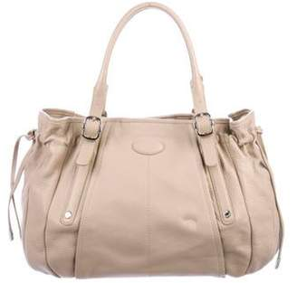 Tod's Leather Drawstring Tote Beige Leather Drawstring Tote