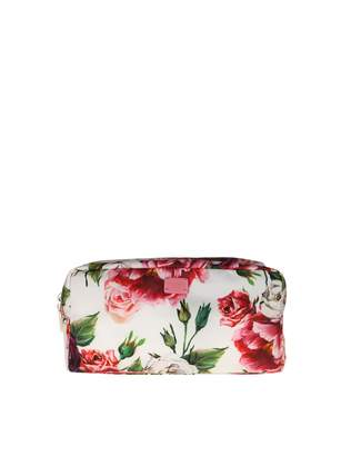 Dolce & Gabbana Necessaire In Nylon With Peonie Print