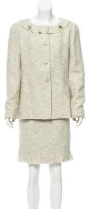 Chanel Wool Tweed Skirt Suit
