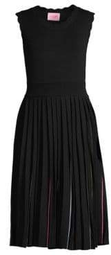 Kate Spade Fit & Flare Pleated Sweater Dress