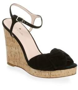Kate Spade New York Janae Suede Cork Wedge Sandals