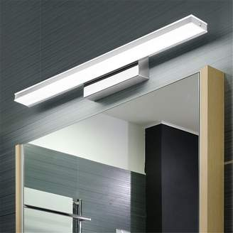 Lilamins Led Mirror Front Lamps Bathroom Mirror Lamp Wall Lamp European Glass Cabinet Led Light Waterproof Anti Fog Bathroom Mirror Lamp,12W White