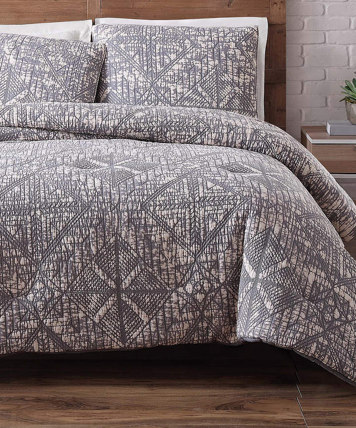 Frost Gray Sand-Wash Quilt Set