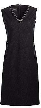 Akris Women's Contrast Stitch Denim Dress