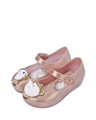 Mini Melissa Ultragirl Beauty and the Beast® Mary Jane Flat, Pink Metallic, Toddler $65 thestylecure.com