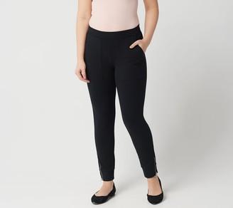 Susan Graver Petite Weekend Premium Stretch Leggings w/ Zipper Detail