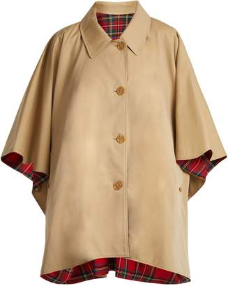 Burberry Reversible wool-twill cotton-gabardine cape