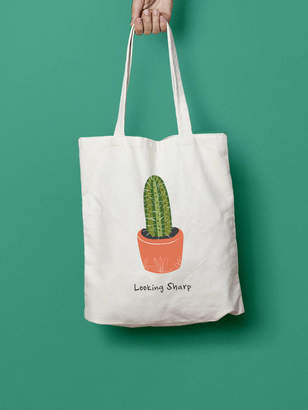 Stephanie B Designs Looking Sharp Cactus Tote Bag
