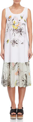 Save The Queen Sleeveless Multi-Print Dress