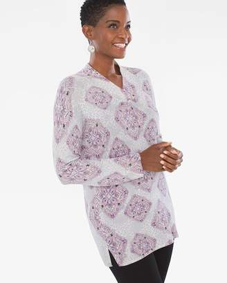 Zenergy Cotton-Cashmere Blend Medallion-Print Tunic