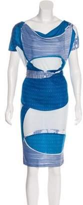 Emilio Pucci Floral Print Knee-Length Dress