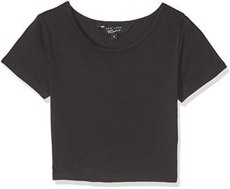 New Look 915 Girl's Basic T-Shirt,10-11 Years