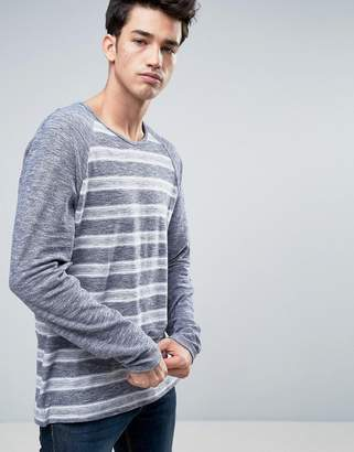 Esprit Raglan Sleeve Sweater with Blurred Stripe