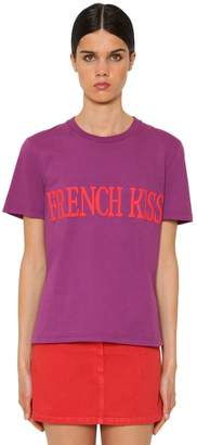 Alberta Ferretti French Kiss Cotton Jersey T-Shirt