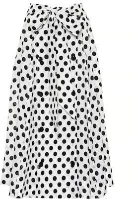 Diana polka-dot linen skirt