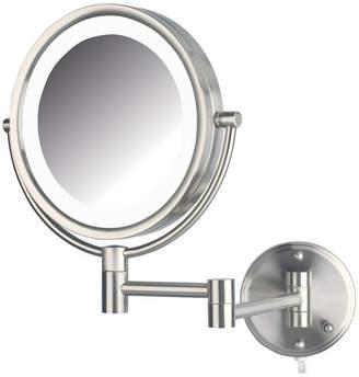 "The Jerdon HL88NL 8.5"" Led Lighted Wall Mount Makeup Mirror Bedding"