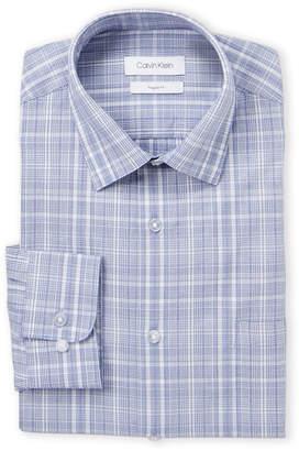 Calvin Klein Blue Velvet Plaid Shirt