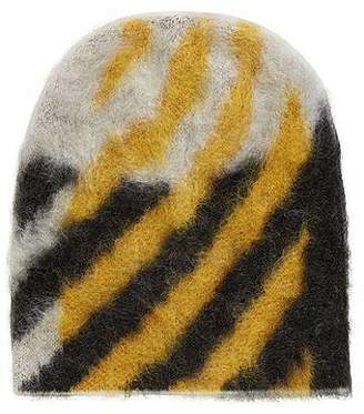 0a742603fcd at HUGO BOSS · HUGO BOSS Textured wool-blend beanie hat with contrast  pattern