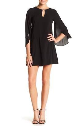 Kensie Split Sleeve Keyhole Sheath Dress