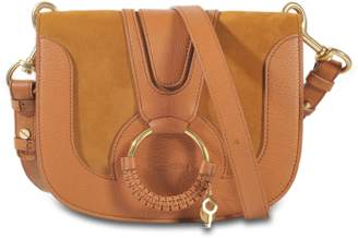 Hana Medium Crossbody Bag in Caramelo Grained Cowskin and Suede See By Chlo E7TnTV8