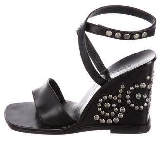 Dolce & Gabbana Studded Leather Wedges
