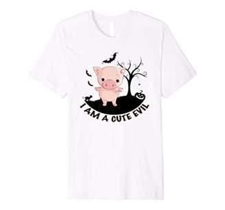 Halloween Cute Pig SHIRT Evil Halloween Gift Tee