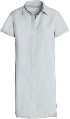 James Perse Linen And Cotton-Blend Mini Shirt Dress